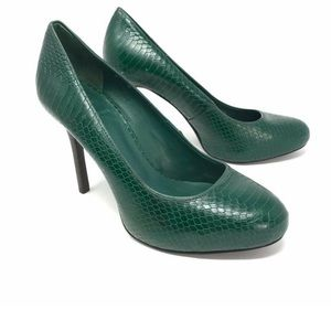 Tory Burch Green Marianne Trendy snake skin pumps
